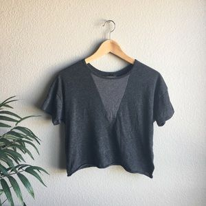 Joe's Gray crop top size small